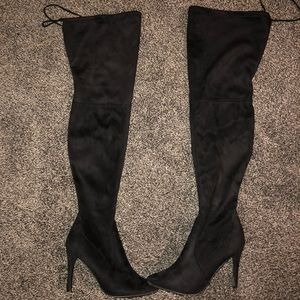 Thick High Suede Boots